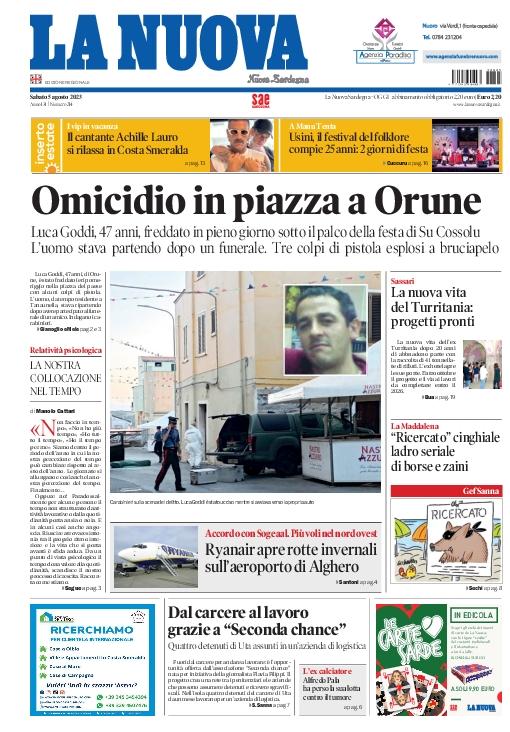 Prima Pagina La Nuova Sardegna
