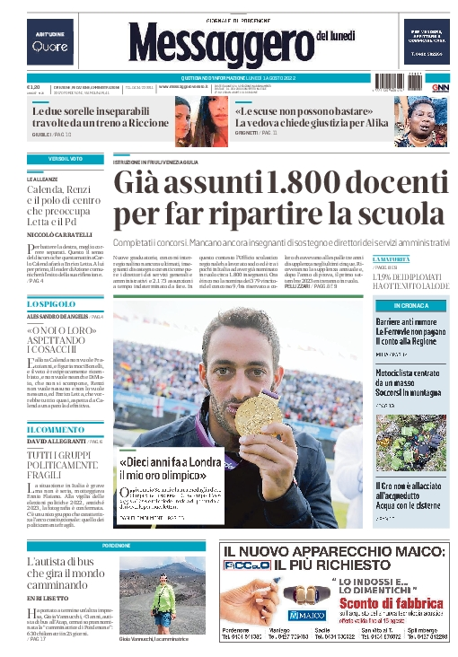 Prima pagina | Messaggero Veneto del Wed Feb 22 11:37:54 CET 2017