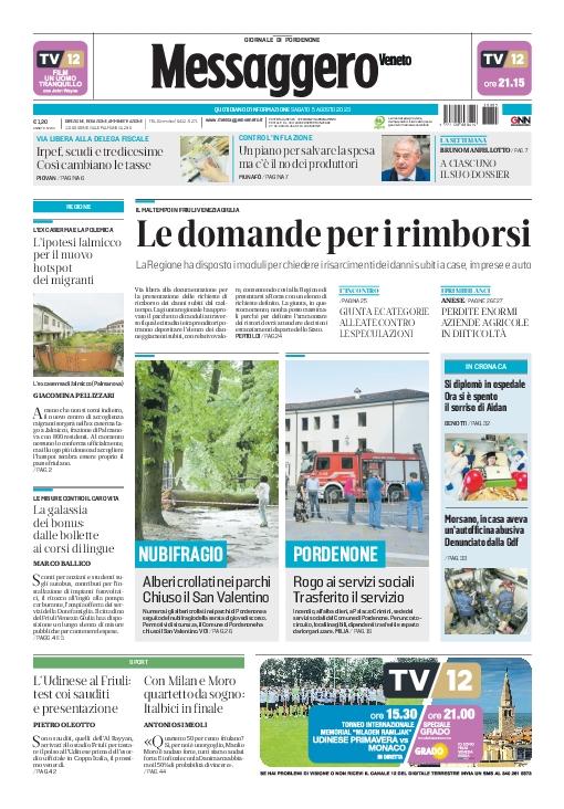 Prima pagina | Messaggero Veneto del Wed Apr 25 21:46:59 CEST 2018