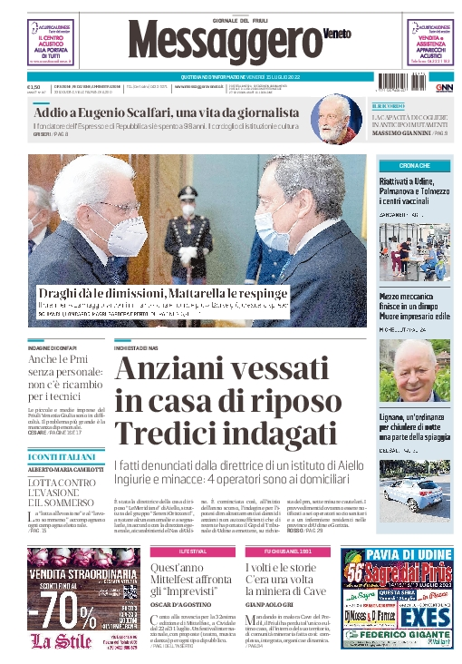 Prima pagina | Messaggero Veneto del java.util.GregorianCalendar[time=1540144254088,areFieldsSet=true,areAllFieldsSet=true,lenient=true,zone=sun.util.calendar.ZoneInfo[id=