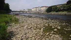Allarme siccità, a Torino il Po è in secca
