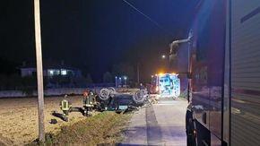 Incidente nella notte a Mongardino, un ferito