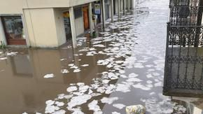 Bad weather, hail and flooding in the Turin area: the alarm for the missing man returned