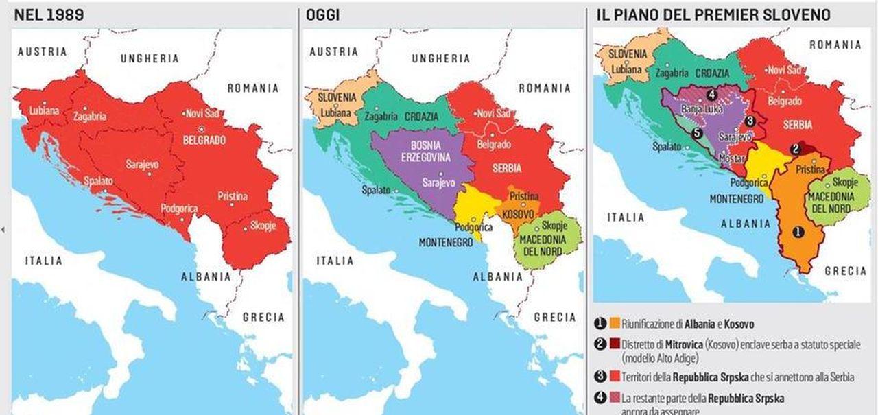 Cartina Della Slovenia E Croazia.Slovenia L Ipotesi Di Cancellare La Bosnia E Ridisegnare I Confini La Stampa