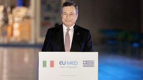 """Clima, Draghi: """"Determinati a proteggere i più deboli da costi, come le bollette"""""""
