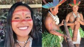 """""""Così si mangiano le larve"""". E di colpo la ragazza indigena diventa una star di TikTok"""