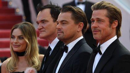 Cannes, tutti pazzi per Leo DiCaprio e Brad Pitt sul red carpet con Tarantino