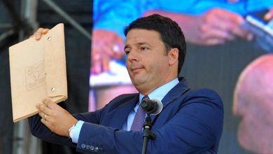 E Renzi corre ?su un treno fermo