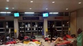 La stazione di Briançon ultimo rifugio dei migranti