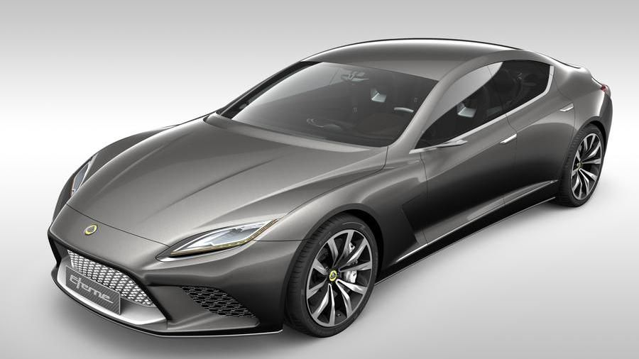 The Lotus Eterne, one of the 5 concept cars presented in 2010 for the revival of the brand. It never came to production