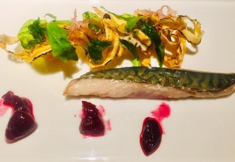 Maccarello e ciliegie, chef Angelo Troiani (foto Mosello)