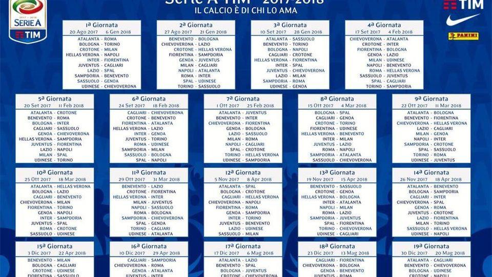 Calendario Milan Campionato.Il Calendario Di Serie A Della Stagione 2017 2018 La Stampa