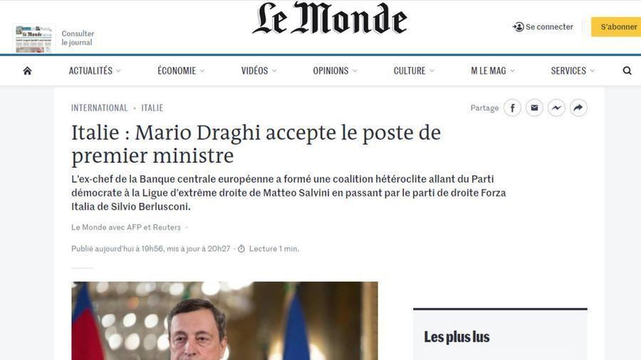 Governo, la stampa internazionale: Draghi unisce politici e tecnici, ma la parità di genere non c'è