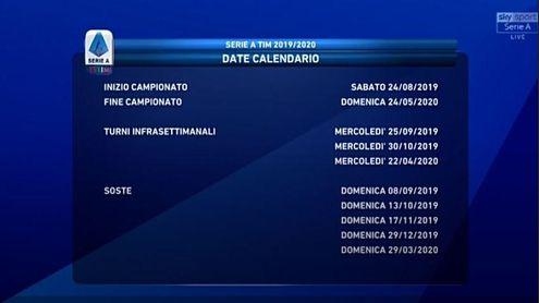 Calendario Serie A 2020 10.Calendario Di Serie A 2019 2020 La Juve Debutta A Parma Poi