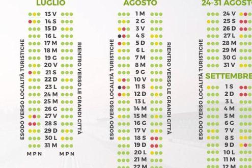 Calendario Traffico Autostrade Estate 2019.Esodo Estivo 2018 Il Calendario Dei Giorni Da Bollino