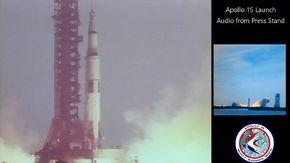 Il lancio dell'Apollo 15: le immagini storiche della Nasa con l'audio della sala stampa