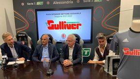 Il marchio Gulliver sulle maglie dell'Alessandria nel campionato Primavera 2
