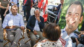 """Torino al voto, Bersani con il candidato Dem Lo Russo: """"La sinistra c'è, ma guardi al lavoro"""""""