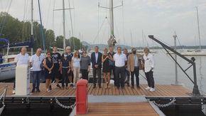 """Inaugurato il nuovo pontile ad Arona: """"Così arricchiamo l'offerta di posti barca"""""""