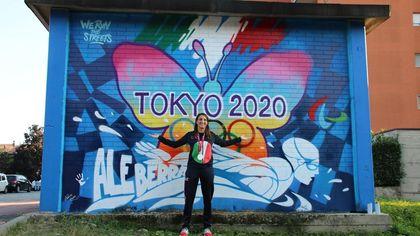 Un murale per la 'farfalla' Alessia Berra: Buccinasco lo dedicata alla sua campionessa della Paralimpiadi di Tokyo