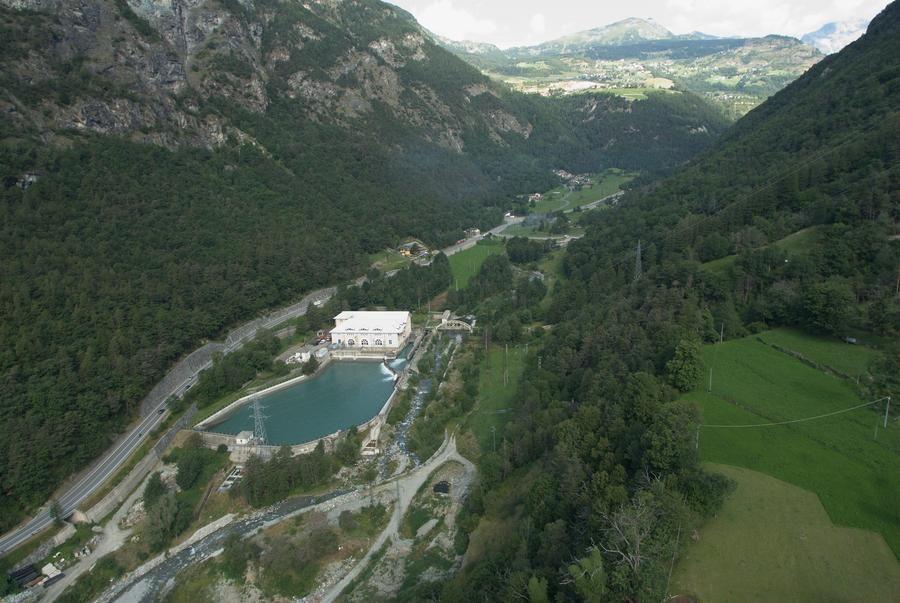 Une centrale hydroélectrique dans la vallée d'Aoste (photo de Stefano Venturini)