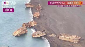Giappone, Navi Usa della Seconda Guerra Mondiale riemergono 70 anni dopo per l'eruzione del vulcano