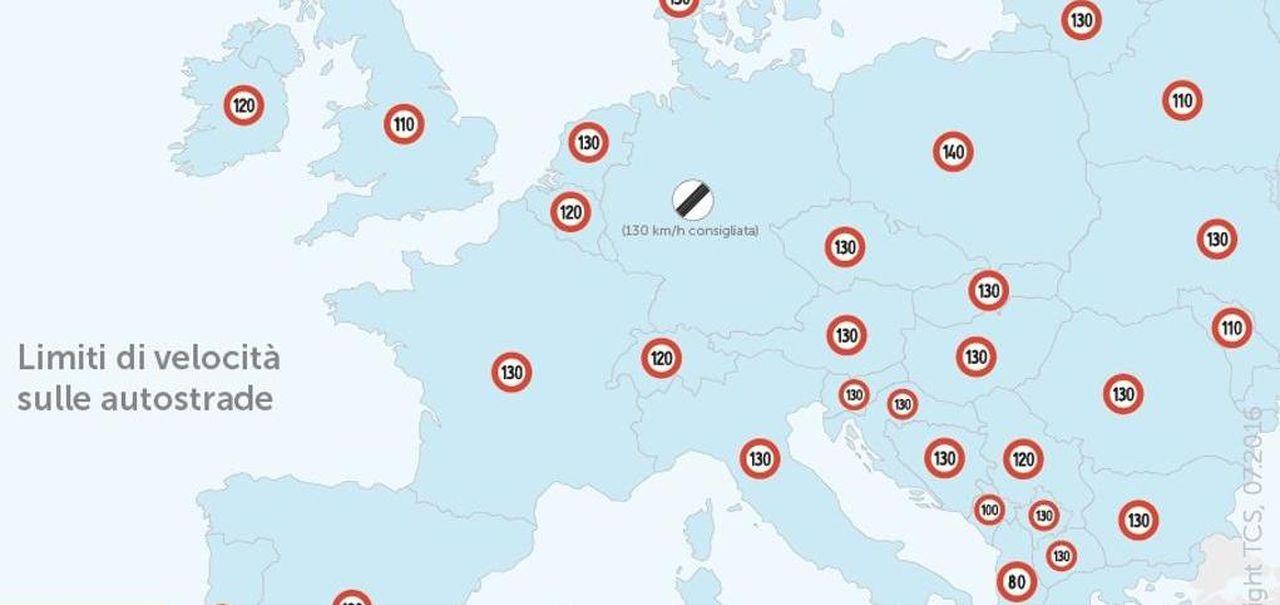Cartina Autostradale Svizzera.Autostrade Ogni Paese Ha I Suoi Limiti Di Velocita Ecco La Mappa La Stampa