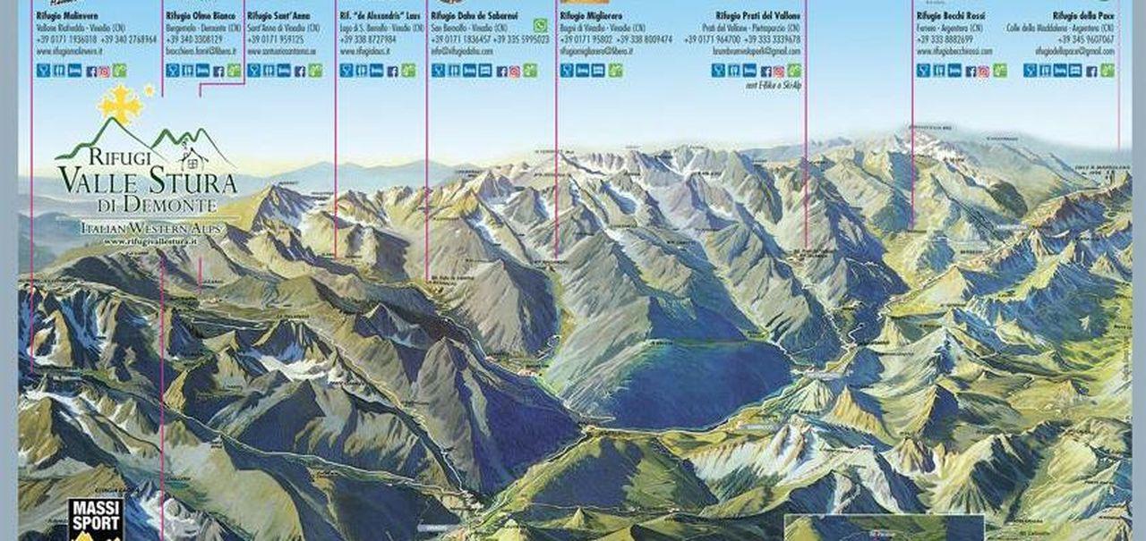 Cartina Della Valle D Aosta Da Stampare.Tovagliette Di Carta Con La Cartina E Le Informazioni Di Tutti Gli 11 Rifugi Della Valle Stura La Stampa