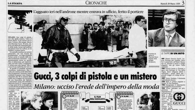 Trent'anni di crimine: Maurizio Gucci - La Stampa