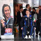"""Roma, Manuel  Bortuzzo incontra la stampa dopo il ferimento. """"Come mi vedo tra 10 anni? In piedi"""""""