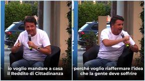 Reddito di cittadinanza, Renzi: ''Basta con i sussidi, la gente deve soffrire e rischiare''