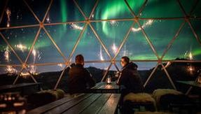 In Iceland in the first Northern Lights observatory where you can admire it even when it is not there