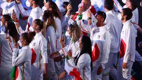 Tokyo, Chirichella e Bosetti alla sfilata olimpica