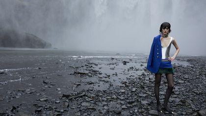 Ghiaccio e vento per la moda estrema di Saint Laurent