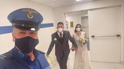 Un percorso sicuro in ospedale ed Erika visita la madre in abito da sposa