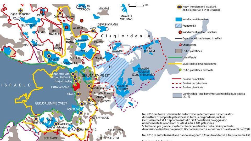 Stato Di Israele Cartina Politica.Insediamenti Gerusalemme E I Due Stati Ecco I Nodi Che Separano Israeliani E Palestinesi La Stampa