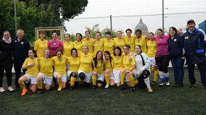 Prima trasferta della Nazionale femminile del Vaticano: nel pomeriggio debutto a Biella contro la squadra Cral dell'Asl. Incasso devoluto agli Amici dell'ospedale