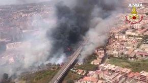 Incendi, brucia la Sicilia: roghi alimentati dal forte caldo