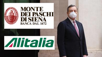 Mps e Alitalia, gli zombie sulla strada di Mario Draghi