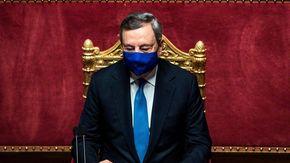 """Draghi: """"In Italia la campagna vaccinale procede più spedita della media europea"""""""