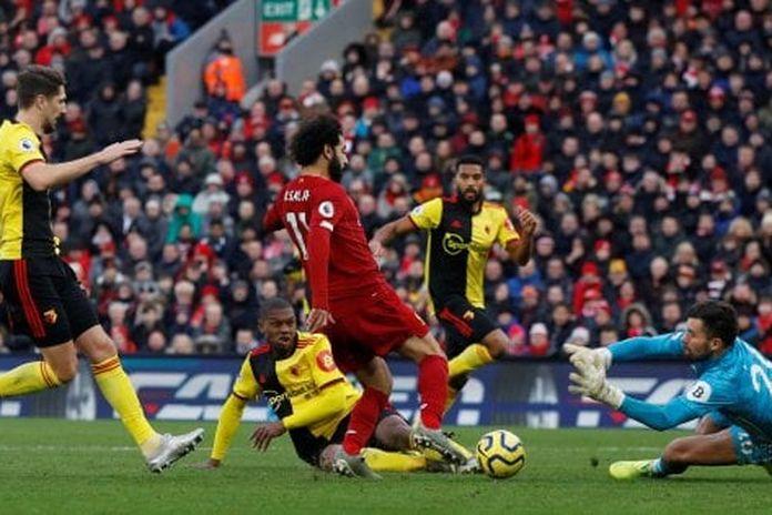 Inghilterra, continua la corsa del Liverpool: doppio Salah, 2-0 al Watford