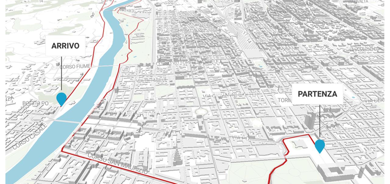 Piazza Di Spagna Cartina.Giro D Italia A Torino La Mappa Del Percorso Con I Divieti La Stampa