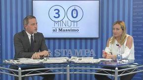 """""""30 minuti al Massimo"""", Meloni: """"Su Green Pass e campagna vaccinale il governo Draghi sbaglia. Io sto con la Merkel"""""""