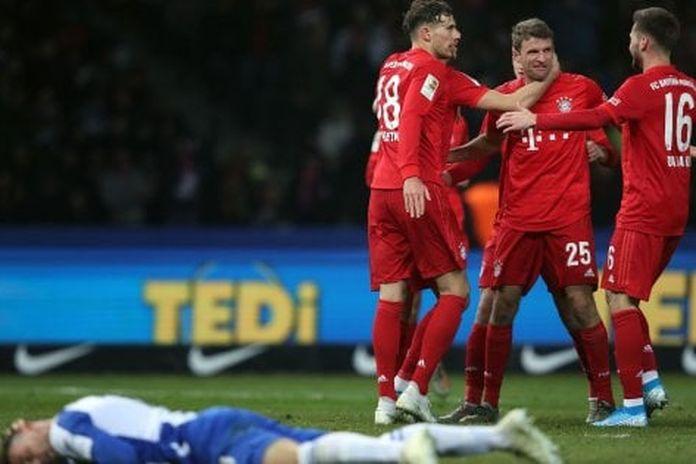 Germania, il Bayern passeggia a Berlino: Hertha travolto, 0-4