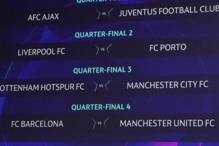 Calendario Partite Premier League.Champions League Sorteggio Quarti La Juve Pesca L Ajax
