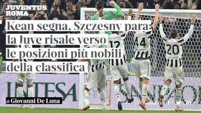 """Giovanni De Luna: """"Kean segna, Szczesny para: la Juve risale verso le posizioni più nobili della classifica"""""""