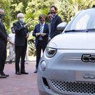 Fiat 500 elettrica, la presentazione al presidente della Repubblica