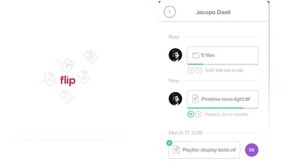 Dopo WeTransfer e Dropbox, ecco Flip, il servizio per