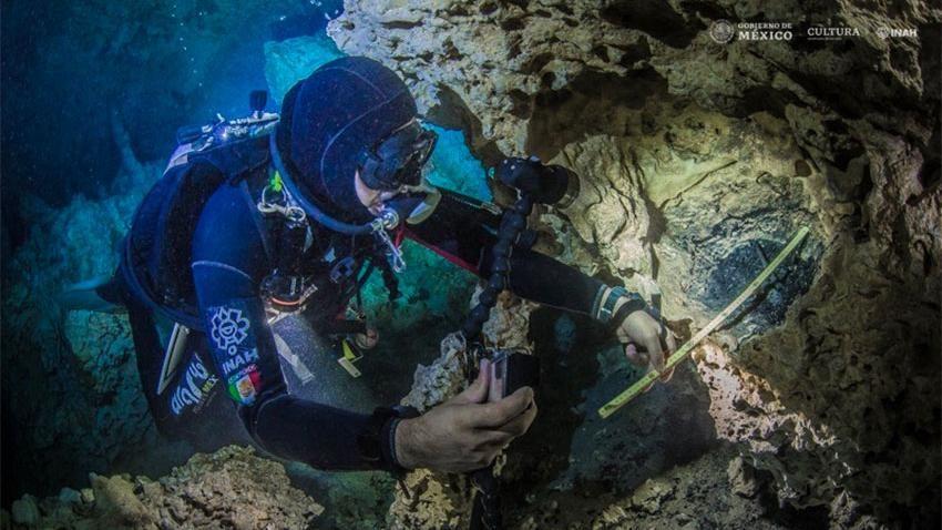 Trovato in Messico un falò di 10 mila anni fa, sott'acqua