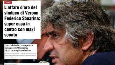 Casa in centro: il sindaco di Verona Federico Sboarina attacca l'Espresso ma sbaglia la data dell'acquisto